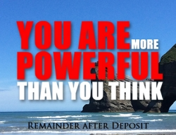 Retreat Registration (Balance after Deposit) - 'You Are More Powerful Than You Think'